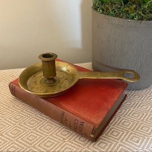 Vintage brass chamber candle holder Williamsburg